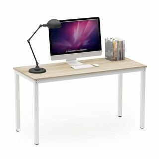 Teraves 100/120/140 CM Morden Wood and Steel Computer Writing Desk Home Office