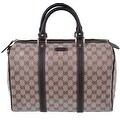 NEW Gucci 265697 Crystal Coated Canvas & Leather Guccissima GG Boston Purse Bag Satchel