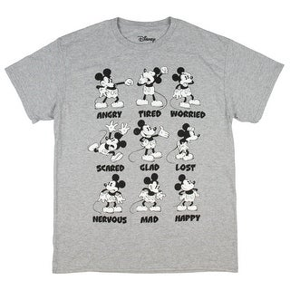Disney Mickey Mouse Men's All The Emotions T-Shirt