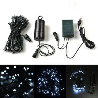 384 Inch 100 LED 8 model USB/Battery Operated Light String+Timer Battery Case+USB Power Controller - SIZE