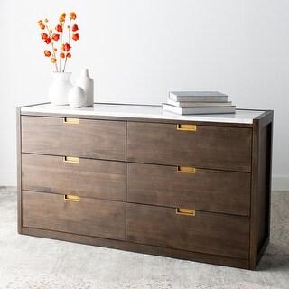 Safavieh Couture Adeline 6-drawer Dark Chocolate Brown Dresser