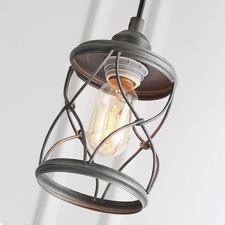The Gray Barn Windy Bracken 1-light Metal Cage Shade Industrial Mini Wire Pendant