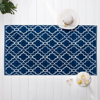 "The Welhome 2-Piece Trellis Party Beach Towel Set - 40"" x 72"""