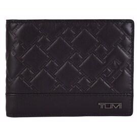 New Tumi Men's 13134 Black Leather Ticon Double Billfold Bifold Wallet
