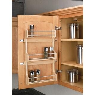 "Rev-A-Shelf 4SR-18 4SR Series Door Mount Spice Rack for 18"" Wall - Natural Wood"
