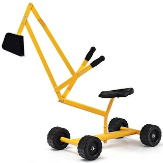 Costway Heavy Duty Kid Ride-on Sand Digger Digging Scooper Excavator