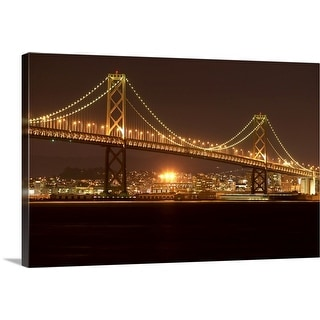 """USA, California, San Francisco, Bay Bridge, night"" Canvas Wall Art"