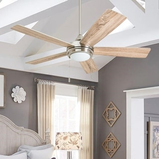 Honeywell Ventnor 52-inch Modern Brushed Nickel Integrated LED Ceiling Fan