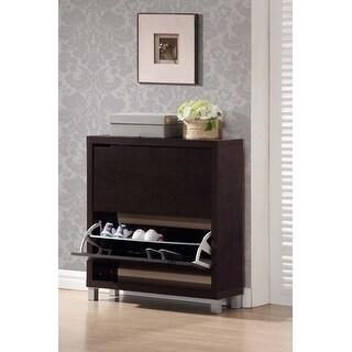 Rochester 2 Storage Dark Brown Modern Shoe Cabinet