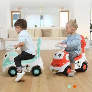 Gymax 3-in-1 Baby Walker Sliding Car Pushing Cart Toddler Ride On Toy