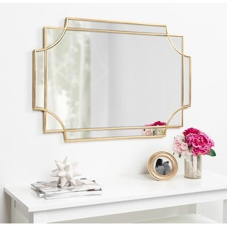 Kate and Laurel Minuette Decorative Rectangle Wall Mirror