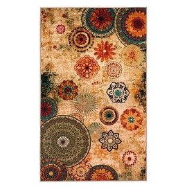 New Medallion Multi colored Area Rug 8X10,carpet,Soft Rug,Living Room,dining room, foyer