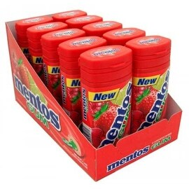 Mentos Gum Bottle Red Fruit & Lime 10 pack (15 ct per pack)