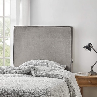 University Transitional Cushioned Velvet Dorm Headboard