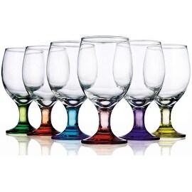 Palais Glassware High Quality Colored Goblet Wine Glass - Set of 6