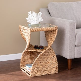 Harper Blvd Nivvan Coastal Natural Woven Fiber Accent Table