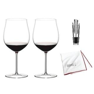 "Riedel Sommeliers Burgundy Grand Cru Wine Glass (Set of 2) Bundle - 10"""