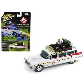 1959 Cadillac Ghostbusters Ecto-1A from Ghostbusters 1 Movie 1/64 Diecast Model Car by Johnny Lightning