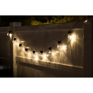 Socialites Solar Patio Edison Style LED String Lights -2 Pack - 20 feet