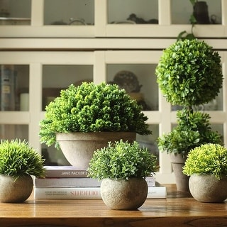 RusticReach Artificial Boxwood Topiary in Various Designs