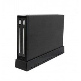 Syba Black USB 3.0 Slim Mirror-like Screwless Design External Enclosure for 2 x2.5-inch SATA3 HDD/ SSD Non-Raid/ Raid 0/ Raid 1