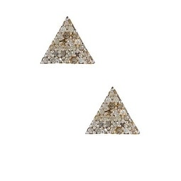 Pyramid Stud Earrings with Diamonds