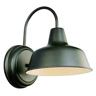 Industrial gooseneck wall sconce with antique oil rubbed bronze finish