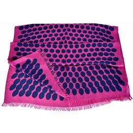 New Gucci Women's 367220 Pink Blue Polka Dot GG Guccissima Modal Scarf