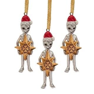 Design Toscano Wiseman Star Christmas Alien Holiday Ornament: Set of Three