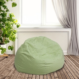Small Dot Refillable Bean Bag Chair for Kids and Teens