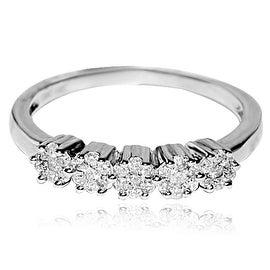 3mm Wide Wedding Band Ring 10K White Gold 1/4ctw Diamonds