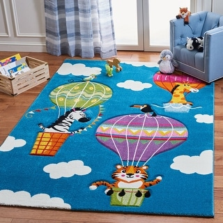 Safavieh Carousel Kids Bengul Hot Air Balloon Rug
