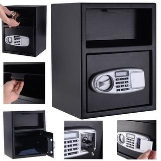 Costway Digital Safe Box Depository Drop Deposit Front Load Cash Vault
