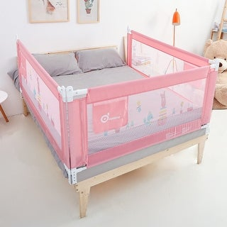 "70in Pink Bed Rail Infant Safety Assist Double Full Size Queen & King, 1 Pack - 7'10"" x 9'16"""