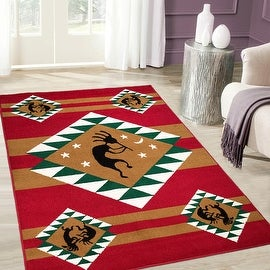 """Allstar Red Woven High Quality Rug. Traditional. Persian. Flower. Western. Design Area Rugs (3' 9"""" x 5' 1"""")"""
