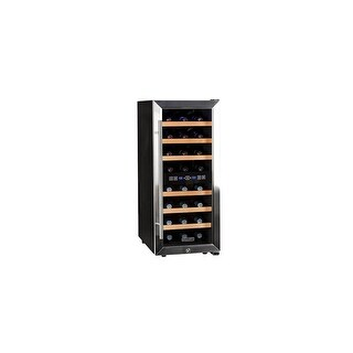 """Koldfront TWR247E 14"""" Wide 24 Bottle Wine Cooler with Dual Cooling - Stainless Steel"""