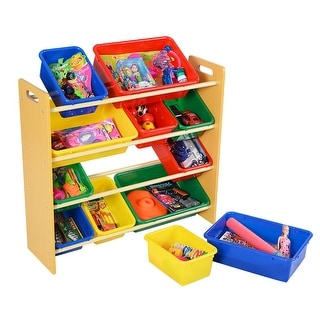 Toy Bins Organizer Storage Box - Multi Colors