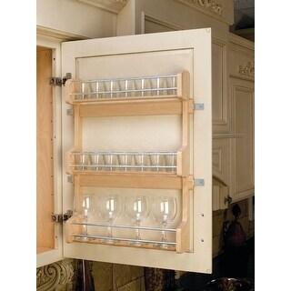 "Rev-A-Shelf 4SR-21 4SR Series Door Mount Spice Rack for 21"" Wall - Natural Wood"