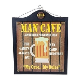 Man Cave Authorized Personnel Only Wood Sign