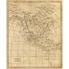 North America, 1812 by Aaron Arrowsmith Maps Art Print