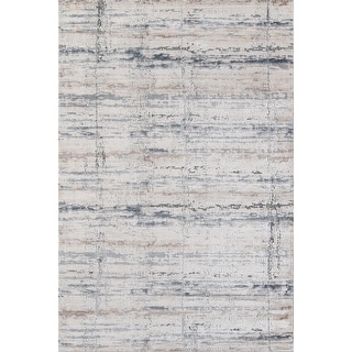 "Momeni Dalston Machine Made Polypropylene and Polyester Grey Area Rug - 7'10"" x 10'10"""