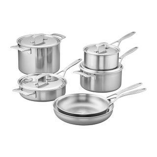 Demeyere Industry 5-Ply 10-pc Stainless Steel Cookware Set - Stainless Steel