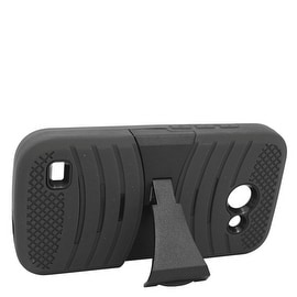 Insten Wave Symbiosis Dual Layer Hybrid Stand Rubber Silicone/ PC Case Cover For Huawei Tribute 4G LTE