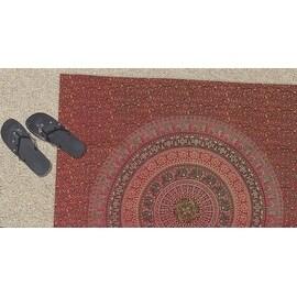 Handmade Sanganer Floral Mandala 100-percent Cotton Tapestry Tablecloth Bedspread Coverlet Beach Sheet Dorm Decor