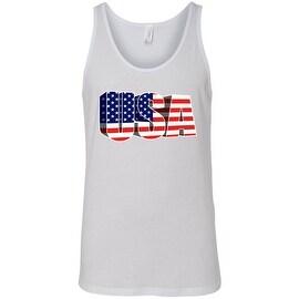 Men's USA Flag Tank Top 3D Pride Stars & Stripes Patriotic American Old Glory