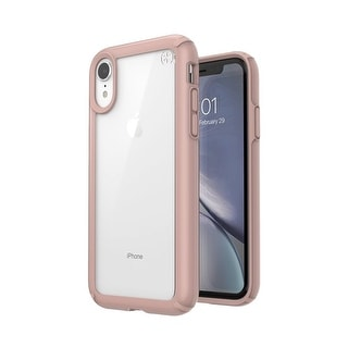 Speck Presidio Show Designed for Impact Case for iPhone Xr - Clear/Rose Gold - Pink