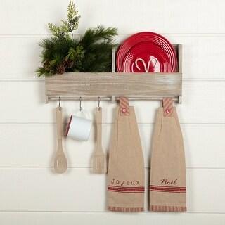 Joyeux Button Loop Kitchen Towel Set of 2 - Kitchen Towel 6.5x18
