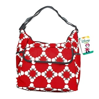 Disney Baby Minnie Mouse Classic Carryall Red and White Diaper Bag - 11 X 13.5 X 7.5 inches