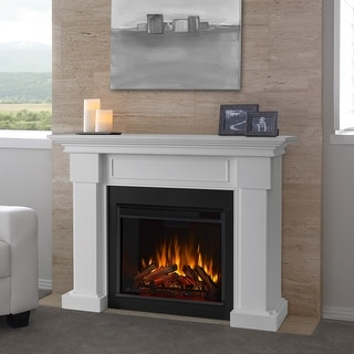 Hillcrest Electric Fireplace White - 48.4L x 13.9W x 38.6H