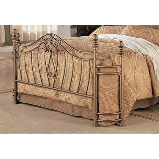 Gracewood Hollow Faulkner Iron Goldtone Headboard and Footboard